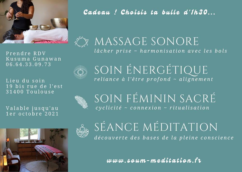 Carte cadeau Massage sonore